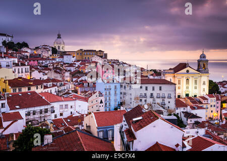 Lisbon, Portugal skyline at Alfama, the oldest district of the city. - Stock Photo
