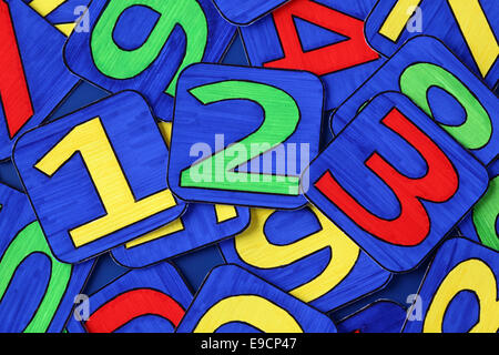 Numbers Heap. Numbers drawn by me. - Stock Photo