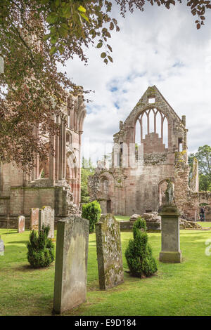 Dryburgh Abbey near St Boswells in the Scottish Borders. - Stock Photo