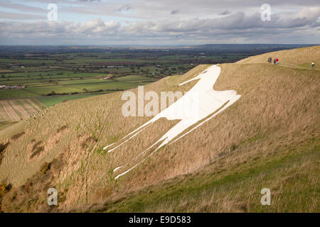 Westbury White Horse, Westbury, Wiltshire, England - Stock Photo