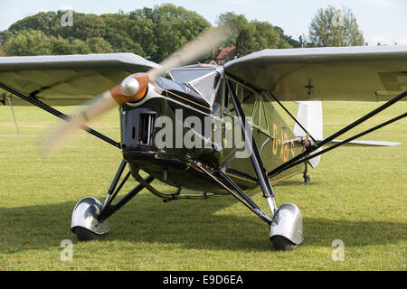 Biggleswade UK - 5th October, 2014: De Havilland DH80a Puss Moth, vintage aircraft at the Shuttleworth Collection - Stock Photo