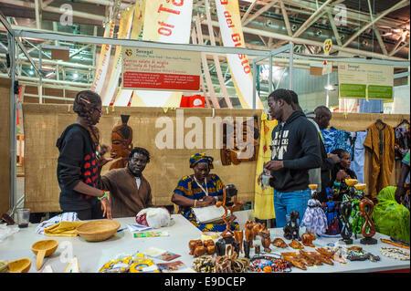 Lingotto Fiere, Torino, Italy. 25th Oct, 2014.  Salone del Gusto e Terra Madre - Stand Of Senegal Credit:  Realy - Stock Photo