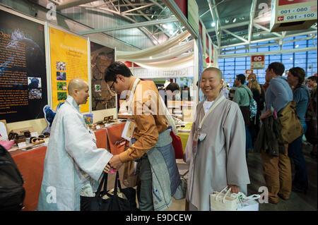 Lingotto Fiere, Torino, Italy. 25th Oct, 2014.  Salone del Gusto e Terra Madre - Stand of Korea, Credit:  Realy - Stock Photo
