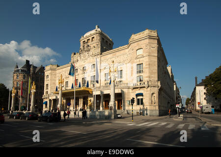 Sweden Stockholm Royal dramatic Theatre in evening light - Stock Photo