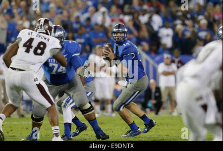 Lexington, Ky, US. 25th Oct, 2014. quarter of the Mississippi State at Kentucky at Commonwealth Stadium in Lexington, - Stock Photo