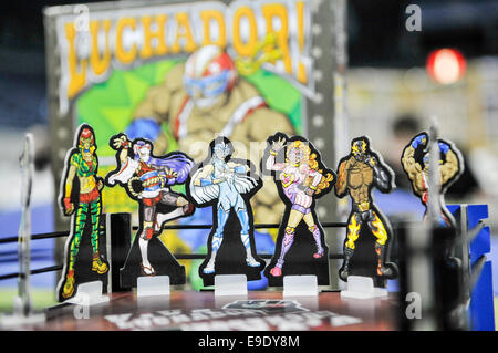 Belfast, Northern Ireland. 26 Oct 2014 - Luchador! Mexican Wrestling Dice: a two-player dice game based on Mexican - Stock Photo
