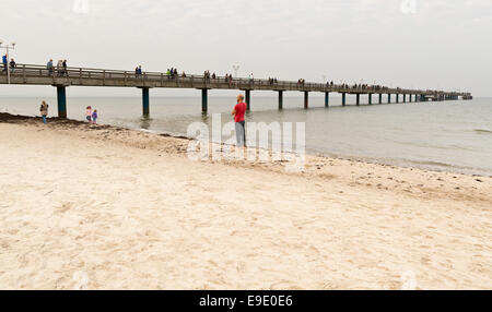 Pier at Binz, Ruegen, Germany, Europe - Stock Photo