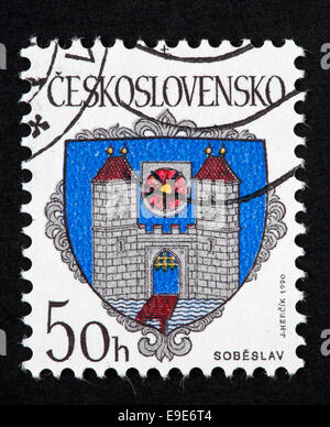 Czechoslovakian postage stamp - Stock Photo