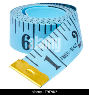 Imperial tailors tape measure, cut out or isolated against a white background.
