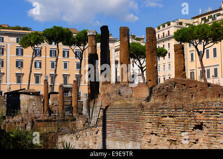 Largo di Torre Argentina in Rome, Italy. - Stock Photo