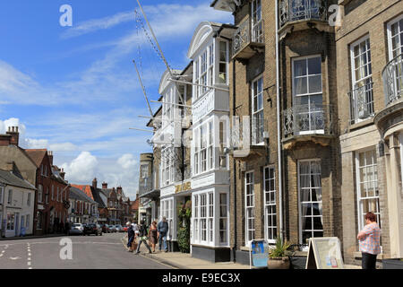 The famous Swan Hotel in the Market Place, Southwold Suffolk UK - Stock Photo