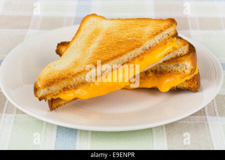 Grilled Cheese Sandwich, Hot Melting Cheese - Stock Photo