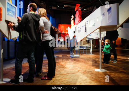 Berlin, Germany. 26th Oct, 2014. Visitors view the navigation area of the German Museum of Technology in Berlin, - Stock Photo
