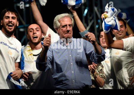 Montevideo, Uruguay. 26th Oct, 2014. Presidential candidate for the ruling party Broad Front and former Uruguayan - Stock Photo