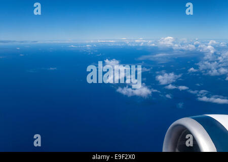 Sky view from airplane - Stock Photo