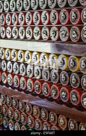 England, Buckinghamshire, Milton Keynes, Bletchley Park, The Turing Bombe Rebuild Project - Stock Photo