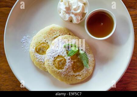 Banana pancakes - Stock Photo