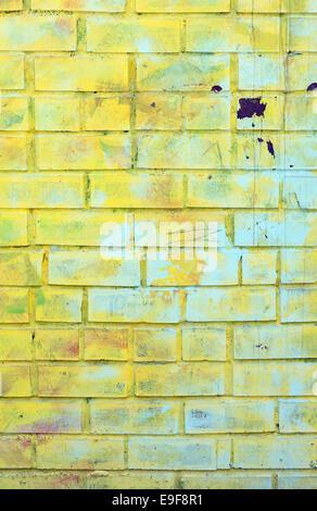 Graffiti On Brick Wall - Stock Photo