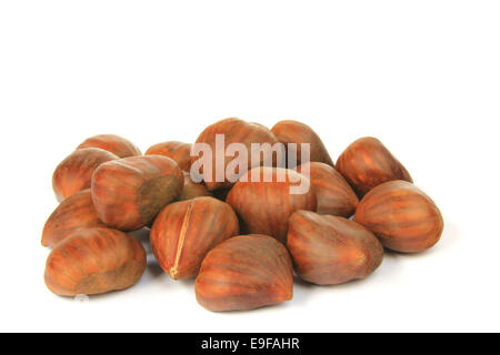 Sweet chestnuts (Castanea sativa) - Stock Photo