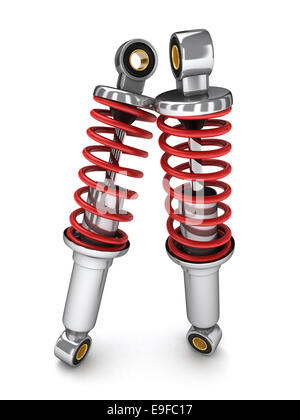 Two shock absorber car (done in 3d) - Stock Photo