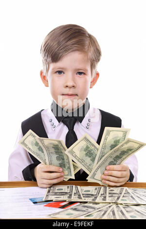 Child's game - banker, financier - Stock Photo