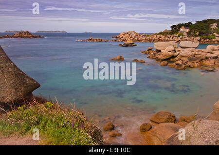 Ploumanach, Cote de Granit Rose, Brittany - Stock Photo