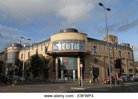 Exterior of Overgate Shopping Centre Dundee Scotland  October 2014 - Stock Photo