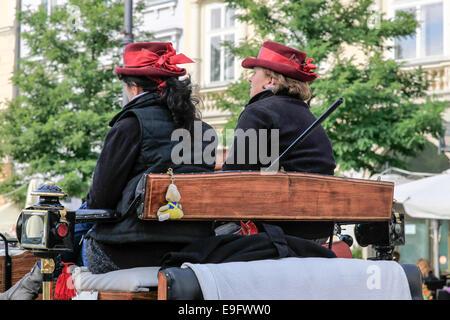 Horse and Carriage Ride Krakow Poland - Stock Photo