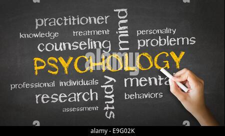 Psychology Chalk Drawing - Stock Photo