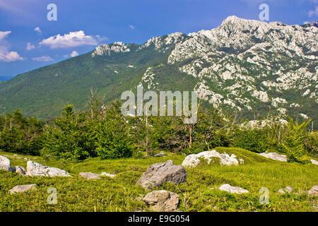 Crnopac peak of Velebit mountain - Stock Photo