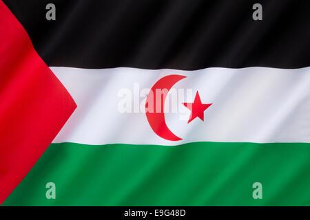 Flag of Western Sahara - Stock Photo