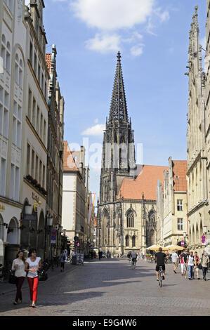St Lamberti Church, Muenster, Germany - Stock Photo