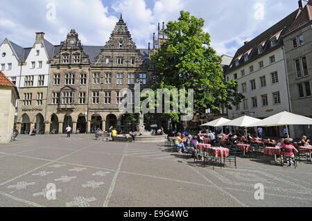 Prinzipal Market, Muenster, Germany - Stock Photo