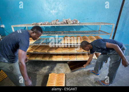 Commercial bakery in Dar es Salaam, Tanzania, East Africa. - Stock Photo