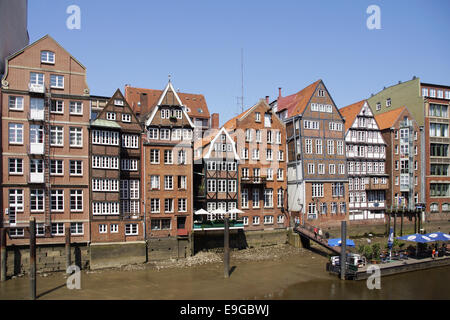 Houses on the Deichstrasse, Hamburg, Germany - Stock Photo