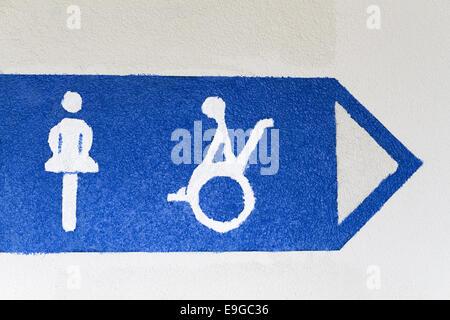 way to the toilet - Stock Photo