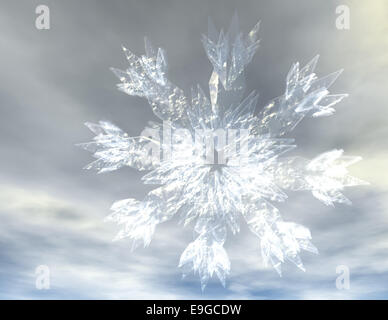 Snow Crystals - Stock Photo