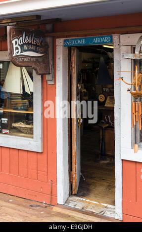 Gift shop on Old Fisherman's Wharf, Monterey, California, USA - Stock Photo