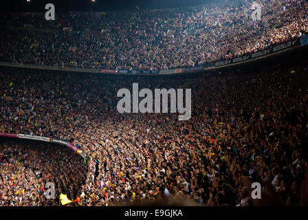 BARCELONA - MAY 23: Camp Nou Stadium after the match against Osasuna on May 23, 2009 in Barcelona, Spain. - Stock Photo