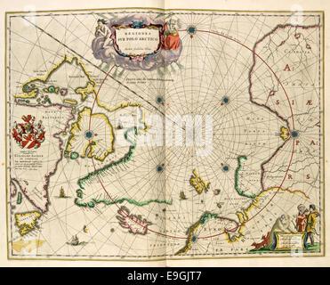 kart over nordområdene Blaeus kart over Arktis og Nordområdene   Cartographer Guiljelmo  kart over nordområdene