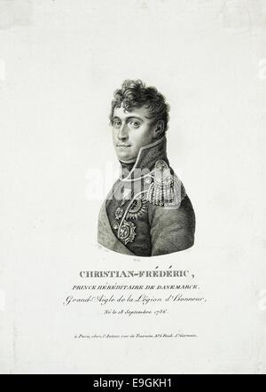 Christian-Frederic : Prince Hereditaire de Danemarck : Grand-Aigle de la Legion d'Honneur : Ne le 18 Septembre 1786 - Stock Photo