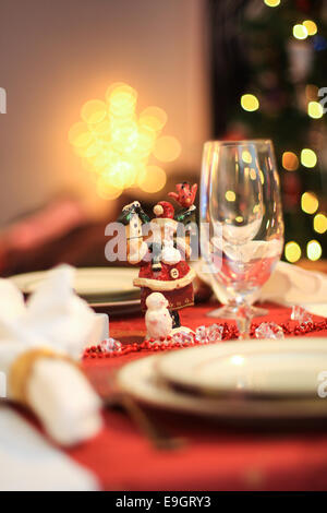 Table Set For Christmas Dinner table decorated and set for christmas dinner  in traditional dining