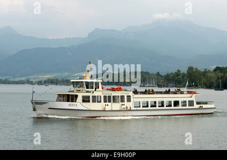 Birta, a passenger ferry on the Chiemsee, Bavaria, Germany. - Stock Photo