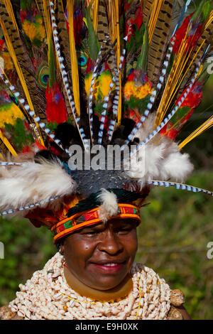 Woman Participant at Mt. Hagen Sing Sing, Papua New Guinea - Stock Photo