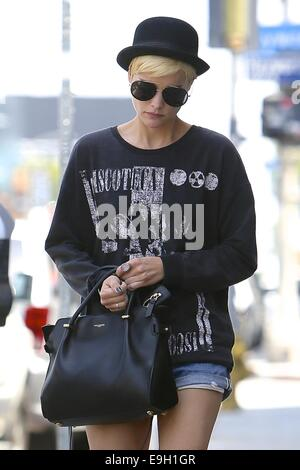 Jaimie Alexander seen with a new hair color, shopping at Reformation clothing store.  Featuring: Jaimie Alexander - Stock Photo