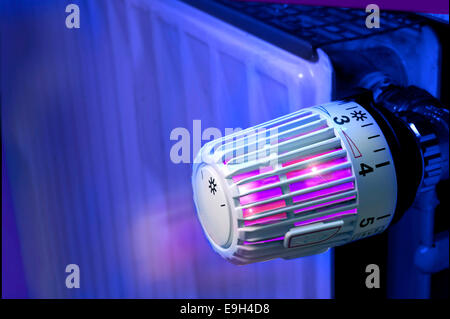 Thermostat, radiator - Stock Photo