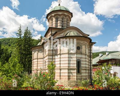 Cozia Monastery built by Mircea the Elder in 1388 in Calimanesti, Romania. - Stock Photo