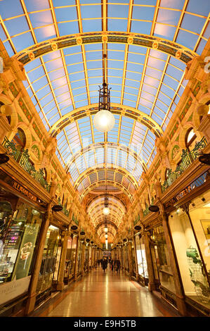 County Arcade, Victoria Quarter, Leeds stores Arcades Shopping Centre, Leeds, West Yorkshire, England, United Kingdom - Stock Photo