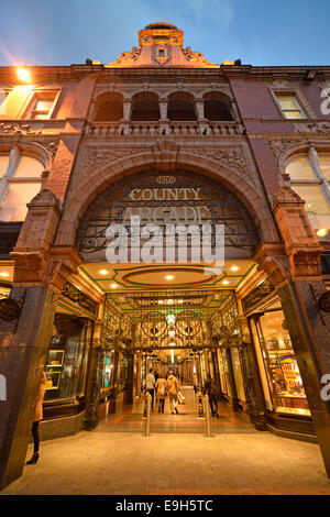 Entrance to the County Arcade, Victoria Quarter, Leeds, West Yorkshire, England, United Kingdom - Stock Photo