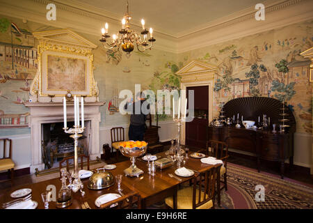 Dining Room In A Traditional British Home In The 1930s